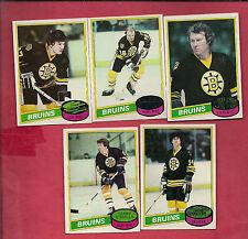 1980-81 TOPPS BOSTON BRUINS  CARD LOT