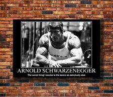 W193 Art Arnold Schwarzenegger Fitness Bodybuilding Motivational Quotes Poster