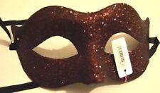 NEW Brown glitter pointed edge Masquerade Mask Eye Gothic halloween