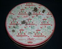 """Huyler's vintage round tin~ Christmas,Design Cookies Red & Green 10""""x 3"""""""