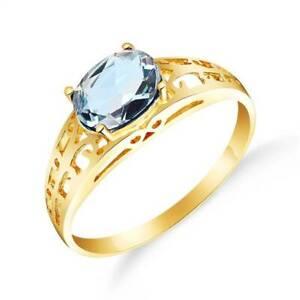 Aquamarine Ring In 14K Yellow Gold (1.15 ct. tw