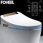 Bidet Sitz Smart Dusch WC Bidet Aufsatz Toilettensitz Elektrisch Gewärmter Weiß