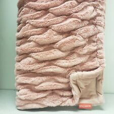 """Opalhouse Ruched Faux Fur Throw Blanket - 50"""" x 60"""", Blush Pink"""