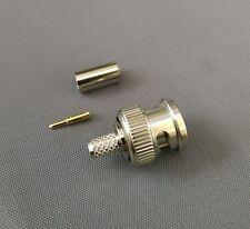 (10 SETS) BNC Male Crimp for RG58 RG142 RG400 LMR195 Cable Connector-USA Seller