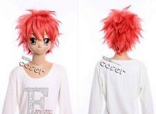 W-230 Blue Exorcist renzo Shima rojo rosa Rosé cosplay peluca Wig Manga Anime
