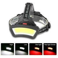 Multifunctional Headlamp Headlight Torch USB Rechargeable Light Flashlight L0X1