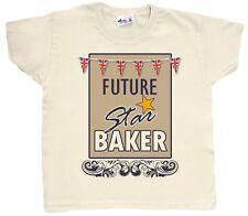 "Bake Off Show T-Shirt ""Future Star Baker"" Child Baking Crafting Gift"