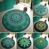 Round Floor Mat Carpet Bath Rug Non-Slip Livingroom Kitchen Bathroom Home Decor