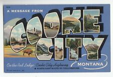 [49050] OLD LARGE LETTER POSTCARD A MESSAGE FROM COOKE CITY, MONTANA