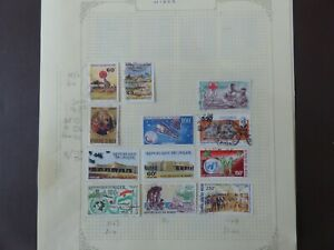 Niger 2 pages of mint and used stamps
