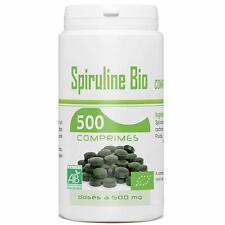 Spiruline Bio AB 500 MG - 500 Comprimés - Spécialement Très Riche En Protéines,