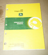 1991 John Deere Model 620 Integral Disk Operator's Manual P/N OMN200140 Issue L1