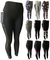 Women Compression Yoga Workout Pants High Waist Active Leggings With Pockets #6