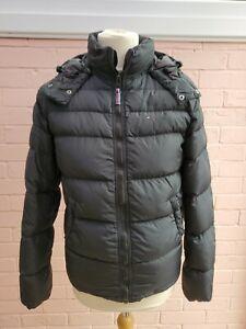 Tommy Hilfiger Down Puffer Jacket Coat Mens Size M Medium Black