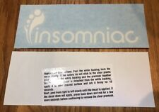"Insomniac Logo 8"" Wide White Vinyl Decal Sticker - BOGO"