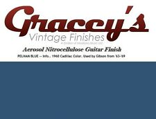 -Pelham Blue- Gracey's Vintage Finishes Nitrocellulose Guitar Lacquer Aerosol.