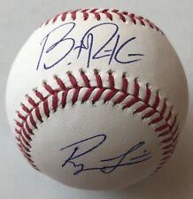 ROYCE LEWIS BRENT ROOKER SIGNED RAWLINGS MLB BASEBALL MINNESOTA TWINS COA
