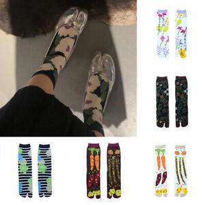 1Pair Split Toe Sandal Middle Short Geta Kimono Flip Flop Socks Women Men