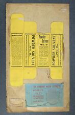 1915 Hoppe's Powder Solvent No. 9 Sample Packaging Boxes from Company Archives