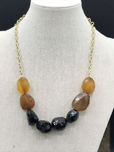 Barse Honeycomb Necklace- Agate & Onyx- Bronze- NWT