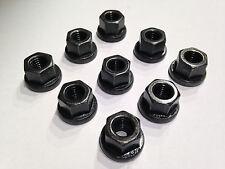 (m10) 10 pezzi, DIN 6331, m10 esagonale madre con federale acciaio nero alto 10.9