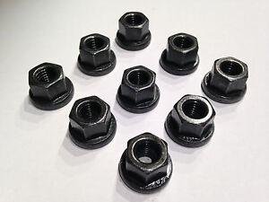 (M10)   10 Stück,DIN 6331, M10 Sechskantmutter mit Bund Stahl schwarz 10.9 hoch