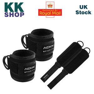 1 Pair Ankle Straps for Cable Machines. Steel Double D Ring, Adjustable Neoprene