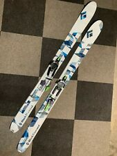 Black Diamond Megawatt 188 skis with O1 telemark bindings, skins, ski crampons
