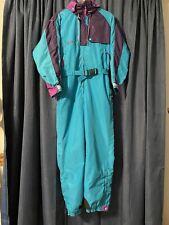 Women's VTG 90's Columbia Radial Nylon Snow Ski Suit Snowsuit One Piece Medium M