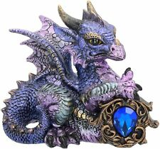More details for purple dragon tyrian blue crystal guardian nemesis now ornament sculpture