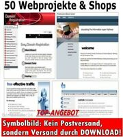 50 WEBPROJEKTE & ONLINESHOP + Photoshop PSD Website Templates + Reseller Bonus