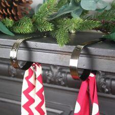 CHRISTMAS STOCKING HOLDER MANTLE CLIP - ORIGINAL - ONE CLIP - ANTIQUE BRASS