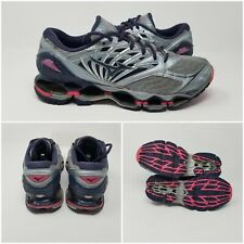 Mizuno Wave Prophecy 8 Running Shoes Sneakers Gray Pink Womens Size 9