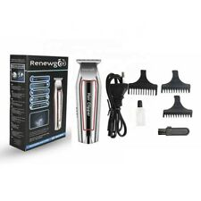 Renewgoo Cordless Hair Trimmer Electric Clipper, Stainless Steel T Blade Kit