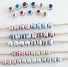 55 Aluminum Beads 10mm and 12mm - Lot A1