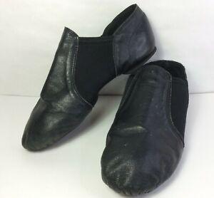 Jazz Dance Shoes Black Leather Split Sole Unisex