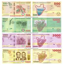 Burundi 500 + 1000 + 2000 + 10,000 Francs 2015 Set of 4 Banknotes  4 PCS  UNC