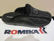 Romika Uomo Pantofola Pantofole Ciabatte con Feltro-lana Antracite/nero 71046 EUR 44