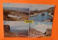 ILKLEY Postcard White Wells Cow & calf Rocks The Tarn The Grove by A. Dixon 1980