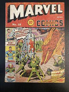 MARVEL MYSTERY COMICS #18 GOLDEN AGE 1941 Schomburg Simon Kirby Burgos timely