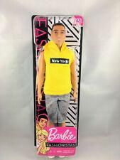 Ken Barbie Fashionistas #131 Doll Yellow New York Hoodie Brand New! See pics!