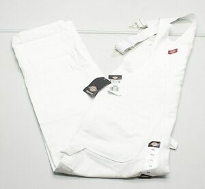Dickies Painters Bib Overalls Men's 34X30 8953 White Cotton Pants ~NEW Other