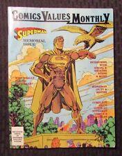 1992 COMICS VALUE MONTLY Magazine #2 FN+ Superman Memorial w/ Poster