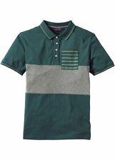 Men camiseta polo slim fit, 905650 en verde oliva 48/50 (m)