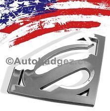1- NEW 3D DC SUPERMAN HOPE S Man of Steel Chrome Badge Emblem (Super Man CHROME)