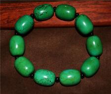 natural tibetan old genuine green turquoise bracelet real mala prayer beads