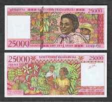 Madagascar 25000 Francs = 5000 Ariary ND ( 1998 ) P 82 UNC