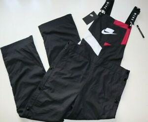 NIKE SPORTSWEAR WOMEN WOVEN OVERALLS JUMPSUIT PLAYSUIT OUTFIT - BV3006-010 S M L