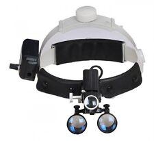 Dental Surgical Medical 5W LED Headlight Head Lamp + 3.5X Binocular Loupes Black