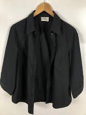SO BIN ICH Damen Bluse, Größe 40/42, schwarz, schlicht, elegant, bequem und fein